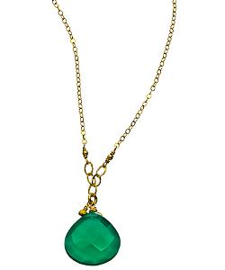 Green Onyx Pendant Necklace by Athena Designs in Laggies