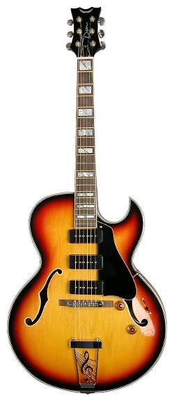 Dean Palamino Guitar Vintage Sunburst by Dean Guitars in Get On Up