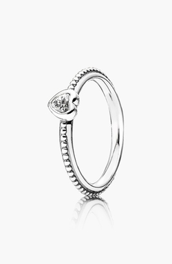 'One Love' Heart Stone Ring by Pandora in Clueless