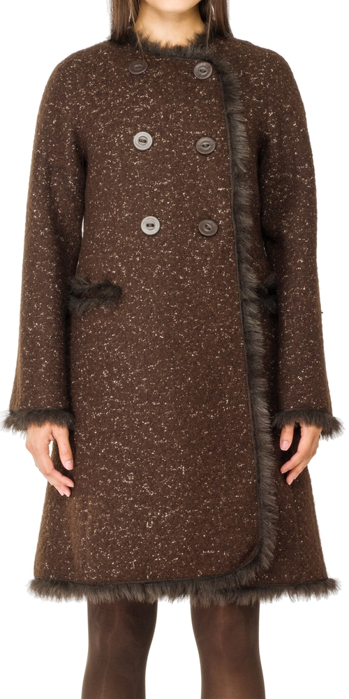 Tweed Coat With Faux Fur Trim by Leon Max in Jessica Jones