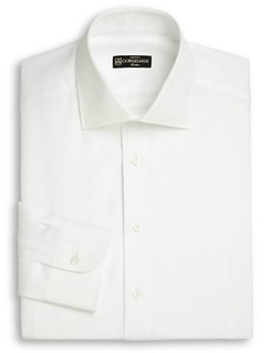 Cotton & Linen Dress Shirt by Corneliani in Life