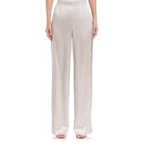 Liquid Satin Pants by St. John in The Boss