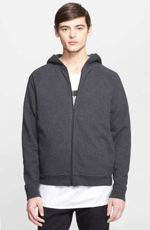 'Vintage' Full Zip Hoodie by T by Alexander Wang in Southpaw