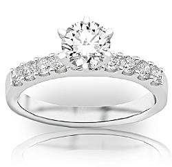 1.04 Carat Round Cut Classic Prong Set Diamond Engagement Ring by Houston Diamond District in Ride Along