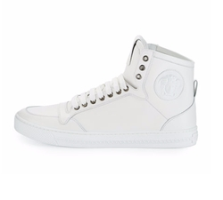 Leather High-Top Sneaker by Versace in Chelsea
