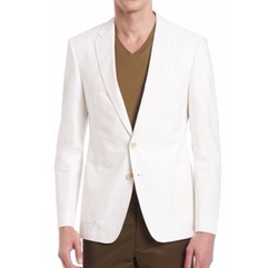 Tonal Seersucker Half Canvas Jacket by Kent and Curwen in Empire