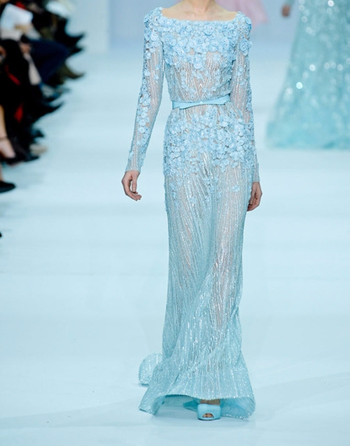 Spring 2012 Haute Couture Fully Embroidered Long Sleeve Dress by Elie Saab  in Gossip Girl - Series Looks