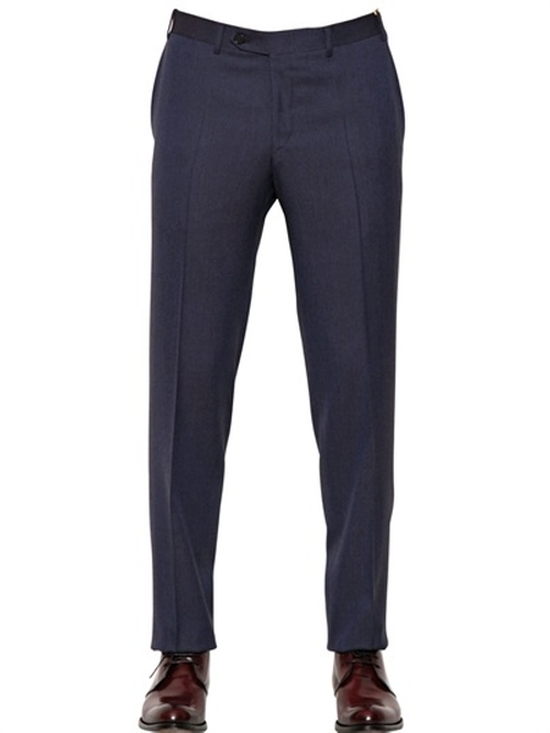 Iridescent Wool Flannel Trousers by Canali in Gone Girl