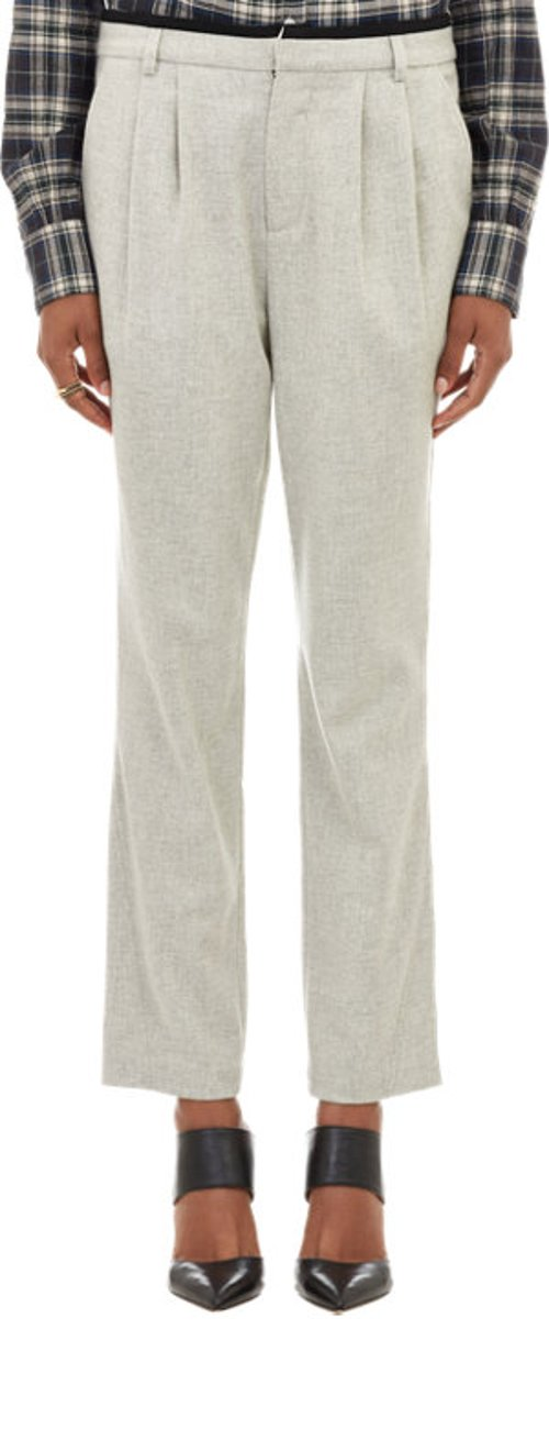 Flannel Pleated Cropped Ronen Trousers by Marissa Webb in Begin Again