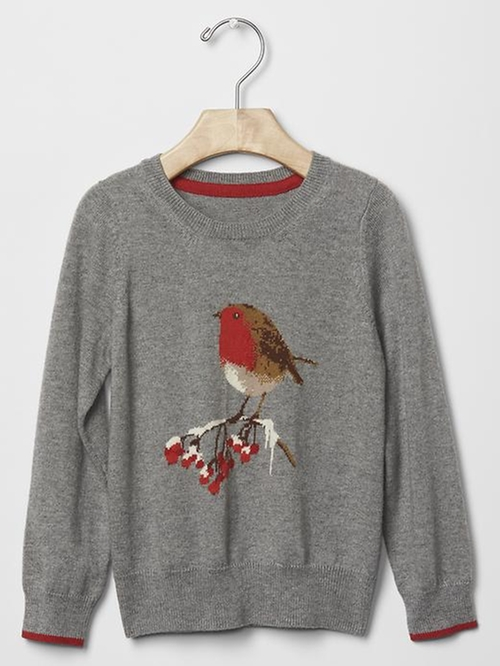 Intarsia Bird Sweater by Gap in Modern Family - Season 7 Episode 9