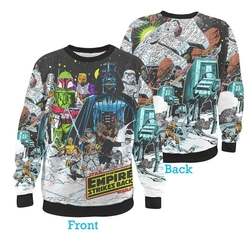 Star Wars Vintage Hoth Fleece Sublimation Print Sweater by Fifth Sun in The Big Bang Theory