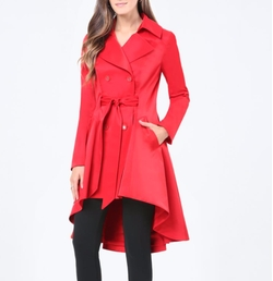 Hi-Lo Trench Coat by Bebe in Pitch Perfect 3