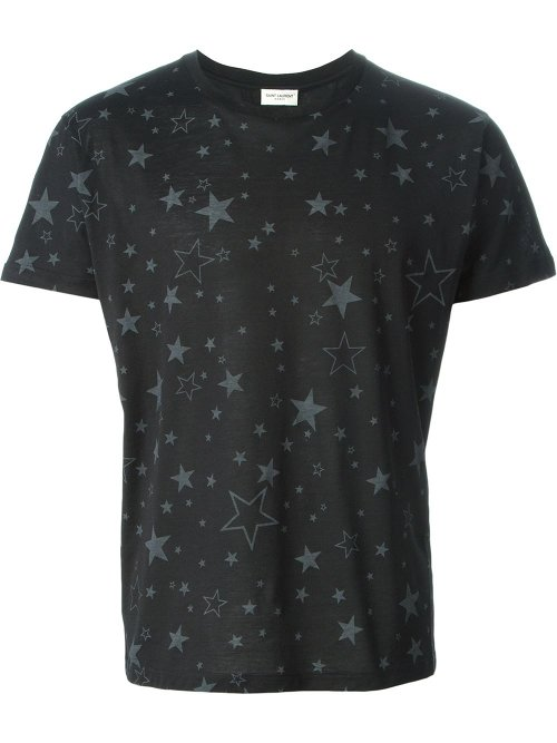 Star Print T-Shirt by Saint Laurent in Begin Again
