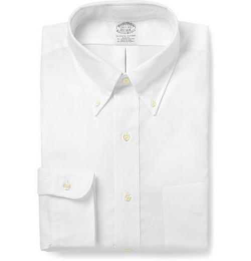 WHITE BUTTON-DOWN COTTON OXFORD SHIRT by BROOKS BROTHERS in Million Dollar Arm