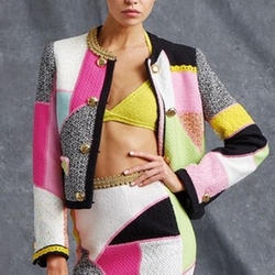 Resort 2016 Patchwork Jacket by Moschino in Empire