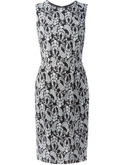 Wisteria Print Midi Dress by Dolce & Gabbana in Elementary