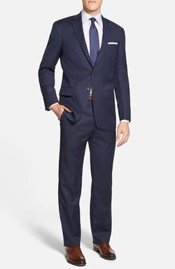 'New York' Classic Fit Stripe Wool Suit by Hart Schaffner Marx in Quantico