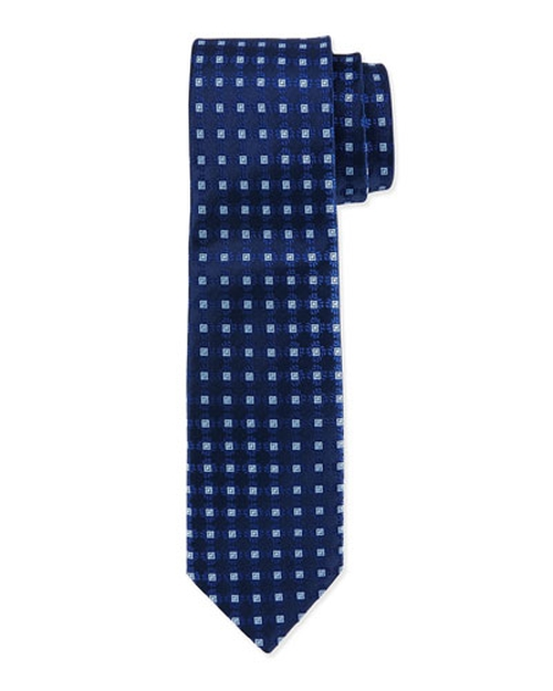 Square Medallion Silk Tie by Charvet in Elementary - Season 4 Episode 2