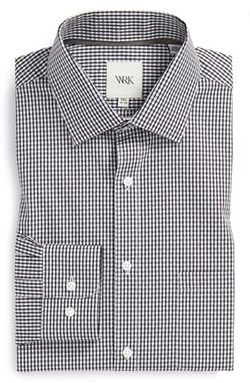 Extra Trim Fit Check Dress Shirt by W.R.K. in Scream Queens