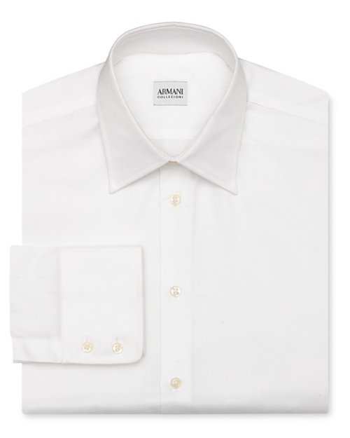 Solid Oxford Dress Shirt by Armani Collezioni in Begin Again