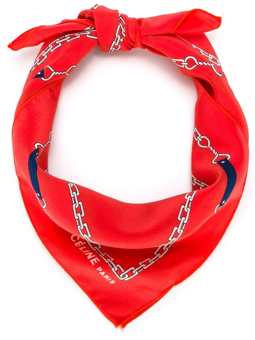 Chain Print Scarf by Céline Vintage in Love the Coopers