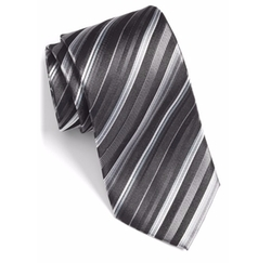 Stripe Silk Tie by Bugatchi in The Accountant