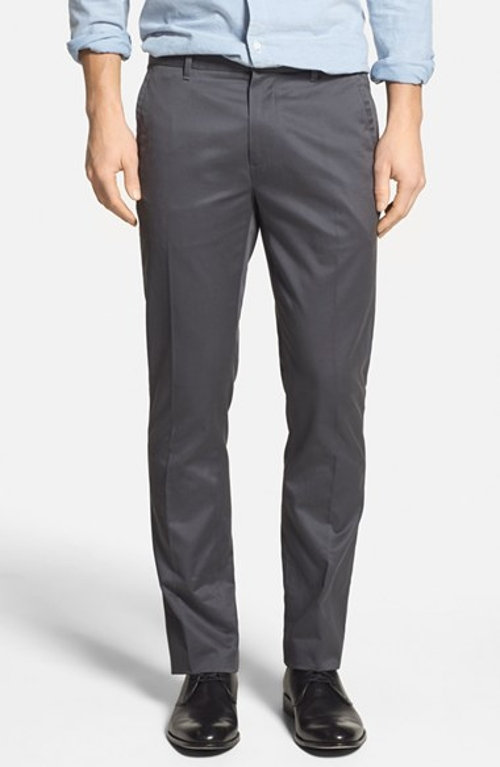 'Weekday Warrior' Tailored Cotton Chino Pants by Bonobos in Trainwreck