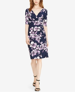 Floral-Print Faux-Wrap Dress by Lauren Ralph Lauren in The Good Place
