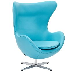 Leather Lounge Egg Chair by Arne Jacobsen in The Man from U.N.C.L.E.