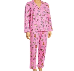 Pink Dogs Button-Up Pajama Set by Rene Rofe in Unbreakable Kimmy Schmidt