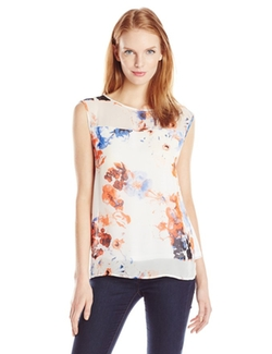 Printed Chiffon Jersey Top by DKNYC in Kill Bill: Vol. 2