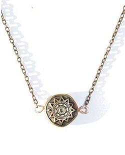 Bronzed Sun Necklace by Indie Twenty Jewelry in Pretty Little Liars