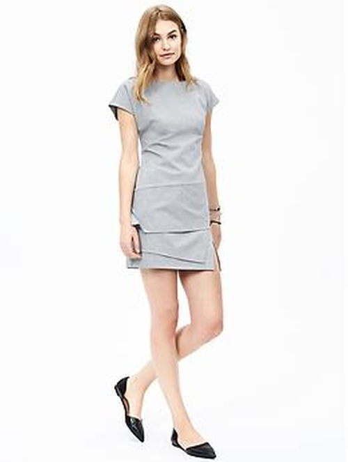 Ponte Asymmetrical Dress by Banana-Republic in The Martian