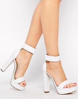 Malibu Leather High Heeled Barely There Sandals by Windsor Smith in Scream Queens