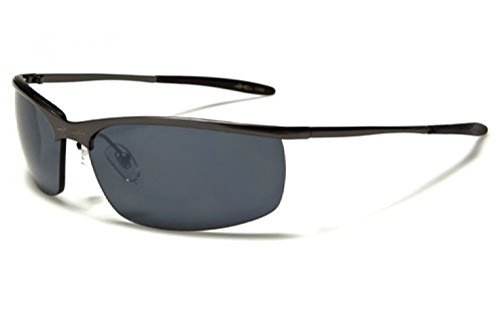 Matrix Style Metal Half Frame Sunglasses by X-Loop in The Matrix