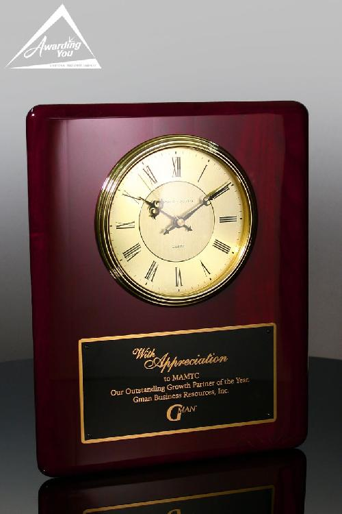 Aidan Appreciation Rosewood Clock by Awarding You in Sabotage