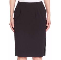 Pleated Pencil Skirt by Eileen Fisher in Powerless
