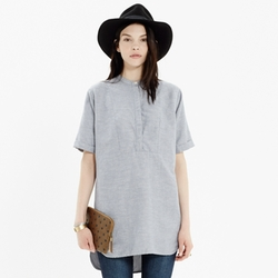 Collarless Tunic In Rainy Day by Madewell in Scream Queens