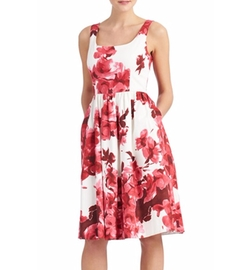 Floral Print Midi Dress by Donna Morgan in Jane the Virgin