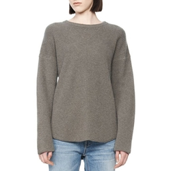 Alexander Wang Oversized Pullover With Shirt Tail Hem