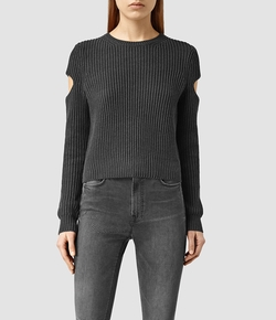 Ria Cropped Sweater by AllSaints in Pretty Little Liars