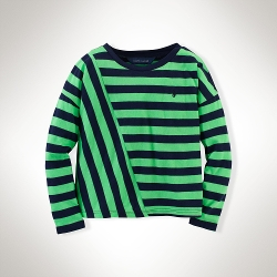Slouchy Striped Cotton Tee Shirt by Ralph Lauren in Poltergeist
