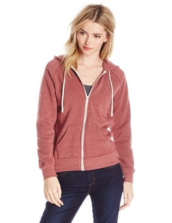 Women's Adrian Fleece Zip Front Hoodie Sweatshirt by Alternative in Quantico