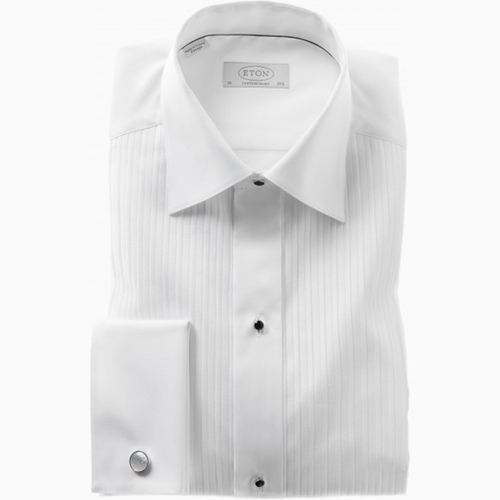 White Plissé Evening Shirt by Eton in Ted 2
