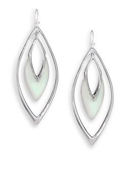 Coral Orbit Drop Earrings by Alexis Bittar in Arrow