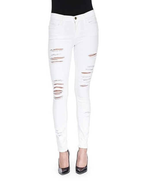 Le Color Rip Skinny Distressed Jeans by Frame in Keeping Up With The Kardashians - Season 12 Episode 10