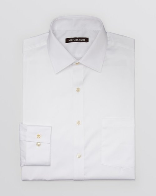 Solid Dress Shirt - Classic Fit by Michael Kors in Vice