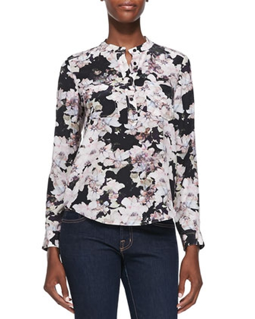 Floral-Print Double-Pocket Blouse by Rebecca Taylor in How To Get Away With Murder - Season 2 Episode 3