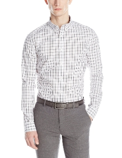 Long-Sleeve Bold-Check Shirt by Kenneth Cole in The D Train