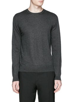 Cashmere Crew Neck Sweater by Isaia in Empire